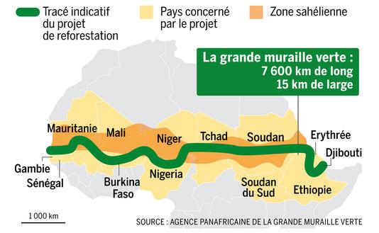 La Gran Muralla Verde promete solucionar muchas de las amenazas urgentes que enfrenta el continente africano: el cambio climático, la sequía, el hambre, los conflictos, la falta de empleo y la migración. Imagen: De SotaLCB2416 - Trabajo propio, CC BY-SA 4.0 en Wikipedia Commons